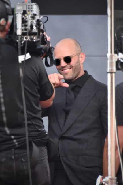 Jason Statham durante un rodaje